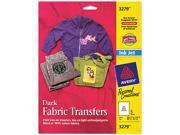 "Iron-On Transfers, f/Dark Fabric, 8-1/2""x11"", 5/PK AVE3279"
