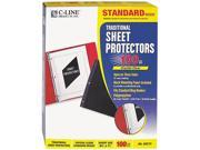 C-line 03213 Side-Loading Sheet Protector, Open On 3 Sides, Standard Weight, Ltr, 100/Box