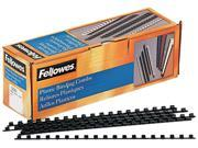"52366 Fellowes Plastic Comb Bindings, 1/4"" Diameter, 20 Sheet Capacity, Black, 100 Combs/Pack"