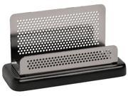 Rolodex E23578 Distinctions Business Card Holder, Capacity 50 2 1/4 x 4 Cards, Black