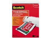 TP3854-20 Scotch Letter size thermal laminating pouches, 3 mil, 11 1/2 x 9, 20/pack