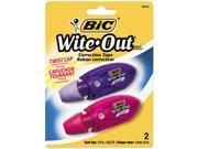 "BIC WOMTP21 Wite-Out Mini Twist Correction Tape, Non-Refillable, 1/5"" x 314"", 2/Pack"