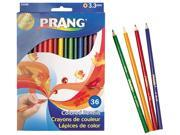 Prang 22360 Colored Woodcase Pencils 3.3 mm 36 Assorted Colors Set