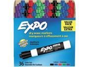 EXPO 1921061 Low Odor Dry Erase Marker, Chisel Tip, Assorted, 36/Box