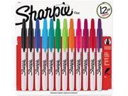 Sharpie 32707 Retractable Permanent Markers, Fine Point, Asstd., 12/Set