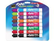 EXPO 81045 Low Odor Dry Erase Markers, Chisel Tip, Assorted, 16/Set
