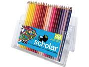 Prismacolor 92807 Scholar Colored Woodcase Pencils, 48 Assorted Colors/Set