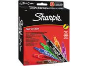 SANFORD 22478 Flip Chart Markers, Bullet Tip, Eight Colors, 8/Set