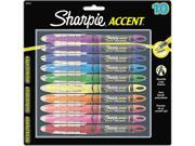 Sharpie 24415PP Accent Liquid Pen Style Highlighter, Chisel Tip, Assorted, 10/Set