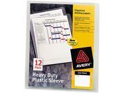 Avery Heavy-Duty Plastic Sleeves, Letter, Polypropylene, Clear, 12/Pack