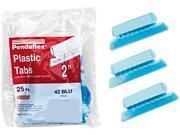 Pendaflex 42-BLU Hanging File Folder Tabs, 1/5 Tab, Two Inch, Blue Tab/White Insert, 25/Pack