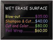 MasterVision MM07151620 - Kamashi Wet-Erase Board, 36 x 24, Black Frame