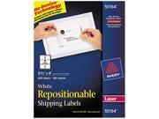 Avery 55164 Re-hesive Laser Labels, 3 1/3 x 4, White, 600/Pack