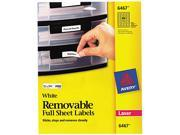 Avery 6467 Removable Inkjet/Laser ID Labels, 1/2 x 1-3/4, White, 2000/Pack Type: Labels