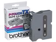 Brother TX-2511 TX Tape Cartridge for PT-8000, PT-PC, PT-30/35, 1w, Black on White
