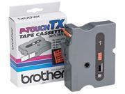 Brother TX-B511 TX Tape Cartridge for PT-8000, PT-PC, PT-30/35, 1w, Black on Fluorescent Orange