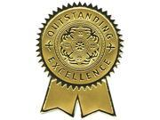 Southworth S1 Gold Foil Certificate Seals, Excellence, 12/Pack