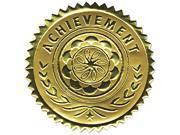 Gold Foil Certificate Seals, Achievement, 12/Pack