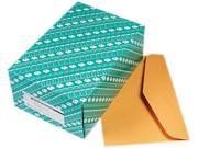Quality Park 54301 Open Side Booklet Envelope Traditional 15 x 10 Light Brown 100 Box