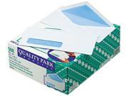 Quality Park 90130 Security Business Envelope, Address Window, Contemporary, #10, White, 500/Box