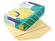 Quality Park 54416 Open Side Booklet Envelope, Traditional, 15 x 10, Cameo Buff, 100/Box
