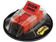 "Post-it Flags 680-HVSHR High Volume Flag Dispenser, ""Sign Here"", Red, 200 Flags/Dispenser"