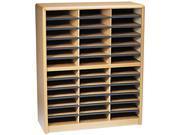 Safco 7121MO Steel/Fiberboard Literature Sorter, 36 Sections, 32 1/4 x 13 1/2 x 38, Oak