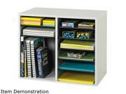 Safco 9420GR Fiberboard Literature Sorter, 12 Sections, 19 5/8 x 11 7/8 x 16 1/8, Gray