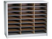 Safco 7111GR Steel/Fiberboard Literature Sorter, 24 Sections, 32 1/4 x 13 1/2 x 25 3/4, Gray