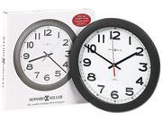 Howard Miller 625-320 Norcross Auto Daylight-Savings Wall Clock, 12-1/4in, Black, 1 AA