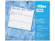 Tops 3801 Rapid Letter Message Memos Form, 8-1/2 x 7, Three-Part Carbonless, 50 Forms