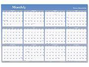 "Visual Organizer A1102 Visual Organizer Vertical/Horizontal Erasable Wall Planner, 24"" x 36"""