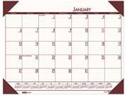 House of Doolittle 12441 EcoTones Moonlight Cream Monthly Desk Pad Calendar 22 x 17 2016