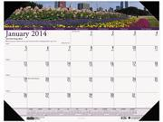 House Of Doolittle 1746 Gardens of the World Photographic Monthly Desk Pad Calendar 18 1 2 x 13