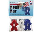 Image of Adams Manufacturing 3303-52-3241 Magnet Man Clip, Plastic, Assorted Colors, 3/Pack