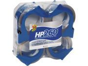 Duck 00 07725 HP260 Packaging Tape w Dispenser 1.88 x 60 yard 3 Core 4 Pack