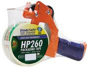 "Duck 1078566 Bladesafe Antimicrobial Tape Gun w/Tape, 3"" Core, Metal/Plastic, Orange"
