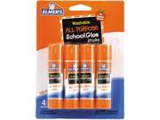 Elmer s E542 Washable All Purpose School Glue Sticks 4 Pack