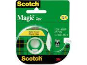 "Scotch 119 Magic Office Tape w/Refillable Dispenser, 1/2"" x 800"", Clear"