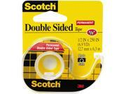 Scotch 136 665 Double Sided Office Tape w Hand Dispenser 1 2 x 250