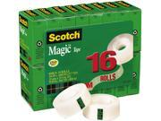 Scotch 810K16 Magic Office Tape Value Pack 3 4 x 1000 1 Core Clear 16 Rolls Pack