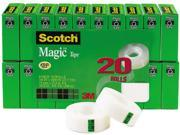 Scotch 810K20 Magic Office Tape Value Pack 3 4 x 1000 1 Core Clear
