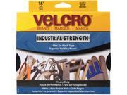 "Velcro 90198 Industrial Strength Sticky-Back Hook and Loop Fasteners, 2"" x 15 ft. Roll, White"