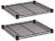 Alera SW58-1818BL Industrial Wire Shelving Extra Wire Shelves, 18w x 18d, Black, 2 Shelves/Carton