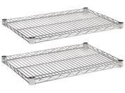 Alera SW58 2418SR Industrial Wire Shelving Extra Wire Shelves 24w x 18d Silver 2 Shelves Carton