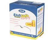 E·A·R 312-1252 E-A-Rsoft Ear Plugs, Uncorded, Foam, Yellow Neon/Red Flame, 200 Pairs/Box