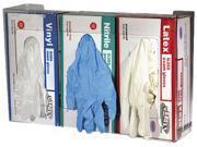 San Jamar G0805 Clear Plexiglas Disposable Glove Dispenser, Three-Box, 18w x 3-3/4d x 10h
