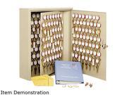 Steelmaster Locking Disc-Tumbler 60-Key Welded Steel Cabinet, 14w x 3 1/8d x 17 1/2h, Sand