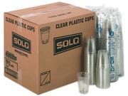 Solo Cup TP12CT Plastic Party Cold Cups, 12 oz., Clear, 20 Bags of 50/Carton 9SIV0B64GX3738