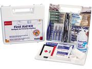 First Aid Only 223-U Bulk First Aid Kit for 25 People, 106 Pieces, OSHA Compliant, Plastic Case